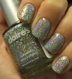 Claires nail varnish looks similar to gosh holographic!