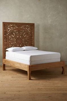 carved, bohemian, moroccan, gypsy, home decor, bedroom furniture Anthropologie Lombok Bed #UOonCampus #UOContest