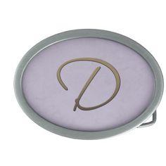 cursive monogram - D Belt Buckle