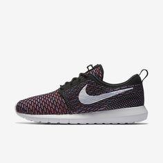 Nike Flyknit Roshe Run NM Mens Running Shoes 11 Black Red Blue 677243 016 #Nike #RunningCrossTraining