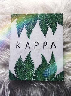 Hand-painted canvas! - 8 x 10 inch *flat* canvas board with acrylic paint - Great for dorm walls (hang with command strips) and perfect for Big/Little Week gifts! - CUSTOMIZE! --> message me and I can replace KAPPA with the name of your sorority! If you need this item sooner than the time listed,