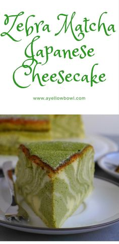 Matcha Japanese Cheesecake