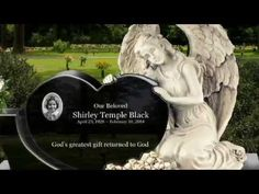 Memorials Headstone For Shirley Temple - YouTube
