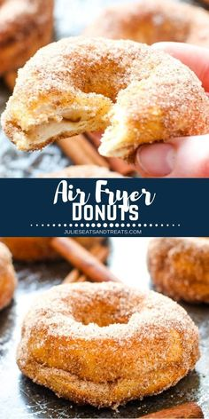 Air Fryer Donuts are the perfect easy breakfast treat! This great air fryer reci… Air Fryer Donuts are the perfect easy breakfast treat! This great air fryer reci…,Breakfast & Brunch Recipes Air Fryer Donuts. Air Fryer Recipes Potatoes, Air Fryer Oven Recipes, Air Fryer Dinner Recipes, Air Fryer Recipes Donuts, Air Fryer Recipes Vegetarian, Vegetarian Cooking, Donut Recipes, Cooking Recipes, Easy Recipes
