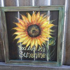 you are my sunshine sunflower window screen by RebecaFlottArts