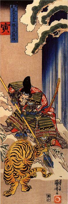Tiger, by Kuniyoshi