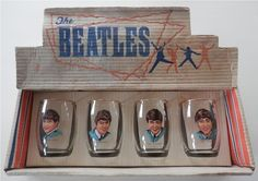 Set of 4 Glasses in Original Box by JL&Co Beatles Love, Beatles Poster, I Am The Walrus, Indian Music, The Fab Four, Ringo Starr, George Harrison, Concert Posters, My Favorite Music