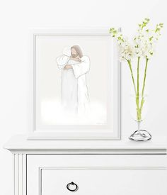 """This piece is so beautiful and perfectly depicts what I think my nana looked like her first day in Heaven. My mom loved it and cried as soon as she opened it. It will forever be a treasured piece of art!"" Review By Maggie www.dillydesignsart.com/ #yourkindofbeautiful #dillydesignsart #printableart #heaven #nana #grandma #beautiful #funeralart #bereavementart #condolenceart #digitalart #digitalpainting #handdrawn #artwork Loss Of Loved One, Relief Society Gifts, Bereavement, Printable Art, Printables, Heaven Art, Funeral Gifts, First Art, Art File"