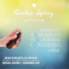 La mezcla de aceites Ouchie (AKA Owie) la usamos muchísimo en mi familia. Es un must tenerla a la mano como parte de tu kit de primeros auxilios! Actúa genial en ayudar al cuerpo en su proceso de sanación. #raspones #golpes #cortadas
