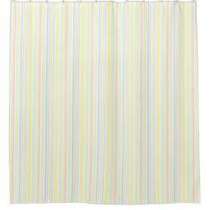 Cute Girly Pastel Vertical Stripe Pattern Shower Curtain - shower curtains home decor custom idea personalize bathroom