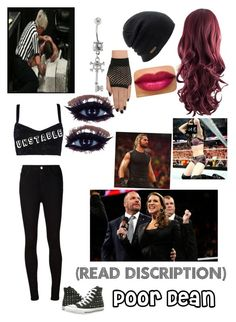 The Authority holding me back while Seth is hurting Dean by briruiz on Polyvore featuring polyvore, мода, style, Dolce&Gabbana, AG Adriano Goldschmied, Converse and Coal