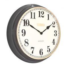 Thomas Kent Clocks Campbell Wall Clock Gun Metal