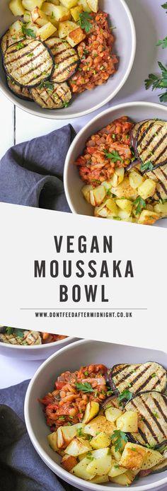 Vegan moussaka bowl recipe