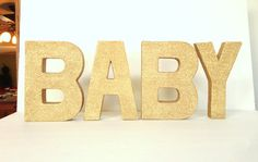 Baby Shower Glittered Stand Alone Letters 8 by janetwhatmandesigns