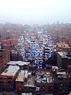 Tunisian Artist eL Seed Paints Manshiyat Naser With Stunning Graffiti Graffiti Art, Urbane Kunst, Library Inspiration, Cairo Egypt, Street Artists, Urban Art, Art Boards, Les Oeuvres, Photo Art