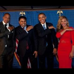 """Get that dirt off ya shoulders."" Beyonce, Obama, Jay-Z"