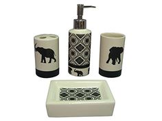 Indecor Home 4-Piece Ceramic Elephant Parade Bath Set Ind... https://www.amazon.com/dp/B00KL3VY5Q/ref=cm_sw_r_pi_dp_5ygyxbQP94FN3