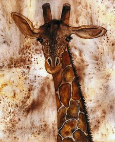 Hubbs Art Folk Prints Debi Hubbs African Animals Giraffe