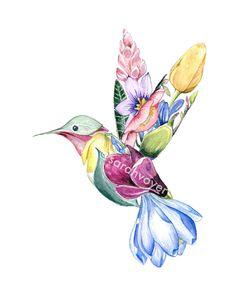 Ginger Bird Print x — Sarah Voyer Flower Art Drawing, Hummingbird Art, Harry Potter Drawings, Bird Artwork, Bird Drawings, Bird Prints, Animal Paintings, Watercolor Paintings, Watercolor Paper