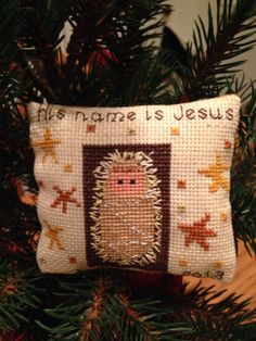 Nativity Miniatures Ornaments Pillow Sampler Christmas Cross Stitch Booklets