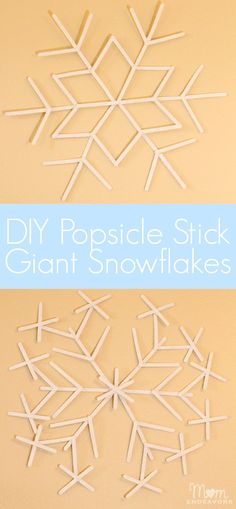 A fun & easy Christmas/Winter craft project! Make giant popsicle stick snowflakes!