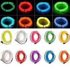 5M 10 colors 3V Flexible Neon EL Wire Light Dance Party Decor Light