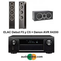 CONJUNTO DE RECEPTOR AV AVR-X4200 + ALTAVOCES  DEBUT F5 Y C5 DE ELAC. Receptor A/V en red de 7.2 canales Full 4K Ultra HD con Wi-Fi y Bluetooth AVR-X4200W. #receptor #altavoz #Elac #Denon