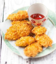 Bocconcini di pollo in crosta di cornflake