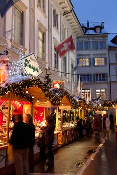 Love this! Christmas in the Swiss Alps
