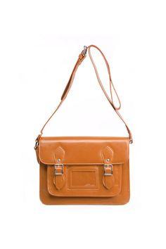 Brown Buckles Satchel Bag