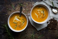Butternut (or pumpkin) & coconut soup.