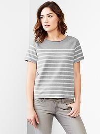 Stripe sweatshirt top