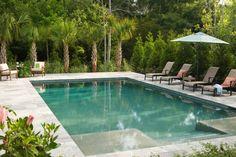Palm edging to pool