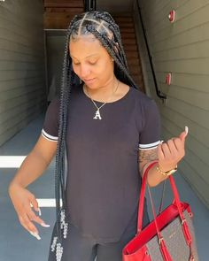 Big Box Braids Hairstyles, Braids Hairstyles Pictures, Black Girl Braided Hairstyles, Black Girl Braids, Baddie Hairstyles, African Braids Hairstyles, Braids For Black Women, Braids For Black Hair, My Hairstyle