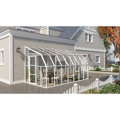 Stay cooler in the summer and warmer in the winter outdoors with this innovative sun room. This sun room is designed to keep the negative side effects at bay. Quantity: One (1) sun room Materials: Pol