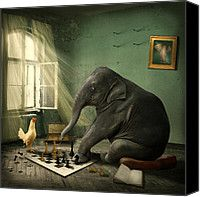 Elephant Chess Photograph by Ethiriel  Photography - Elephant Chess Fine Art Prints and Posters for Sale