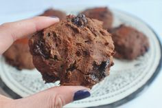 Chocolate Chunk Chilli Cookies! No dairy, no gluten, no refined sugar – yet absolutely bursting with flavour, these are definitely the way to any chocoholic's heart. In fact, they are like a cross between a cookie and a brownie – so double win.