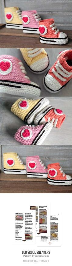 Old Skool Sneakers Crochet Pattern
