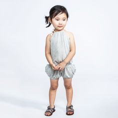 Show details for Omamimini Grey Chevron Playsuit