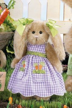 "Bearington  Collection rabbits | about Bearington Collection 10"" Plush ANITA CARROT Bunny Rabbit ..."