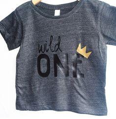 Wild One tee Child t-shirt  tee  toddler baby by blueenvelope