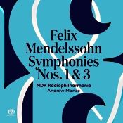 John J. Puccio at Classical Candor reviews Mendelssohn: Symphonies Nos. 1 & 3, with Andrew Manze and the NDR Radiophilharmonie on a Pentatone SACD.