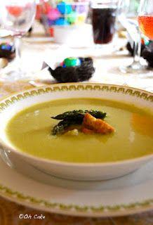 roasted asparagus soup via Oh Cake blog