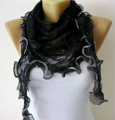 Lace scarf women scarves    fashion scarf  gift by MebaDesign