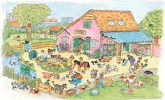 kinderboerderij Toddler Preschool, Preschool Activities, Learn Swedish, Math Talk, Picture Writing Prompts, Hidden Pictures, Farm Theme, Language Development, Happy Colors