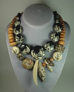 Stunning Polymer work by Jan Geisen   Necklace |  Jan Geisen.  Polymer