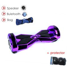 8 inch 2 Wheel Scooter Self Balance Electric Scooter Bluetooth/key /LED light /protector Smart Electric Skateboard Hoverboard