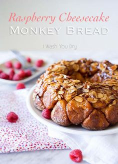 This Raspberry Cheesecake Monkey Bread will become a family favorite and is perfect for a special weekend breakfast or brunch! Raspberry Bread, Raspberry Cheesecake, Cream Cheese Ball, Cream Cheese Filling, Brown Sugar Icing, Sopapilla Cheesecake, Butter Cheese, Monkey Bread, Cinnamon Cream Cheeses