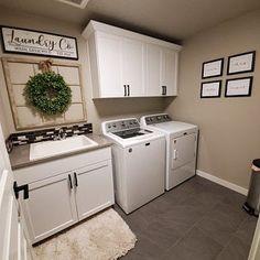 Laundry Room Sign, Laundry Room Decor, Self-Serve Laundry Sign, Black and White Laundry Sign Laundry Room Colors, Laundry Room Bathroom, Laundry Room Layouts, Laundry Room Remodel, Laundry Room Cabinets, Laundry Decor, Laundry Room Storage, Laundry Room Design, Laundry Room With Sink
