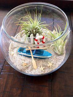 50 Homemade DIY Terrarium Ideas You Should Try - Possible Decor Terrarium Diy, Air Plant Terrarium, Glass Terrarium, Terrarium Wedding, Fish Centerpiece, Terraria, Cactus Flower, Flower Bookey, Flower Film